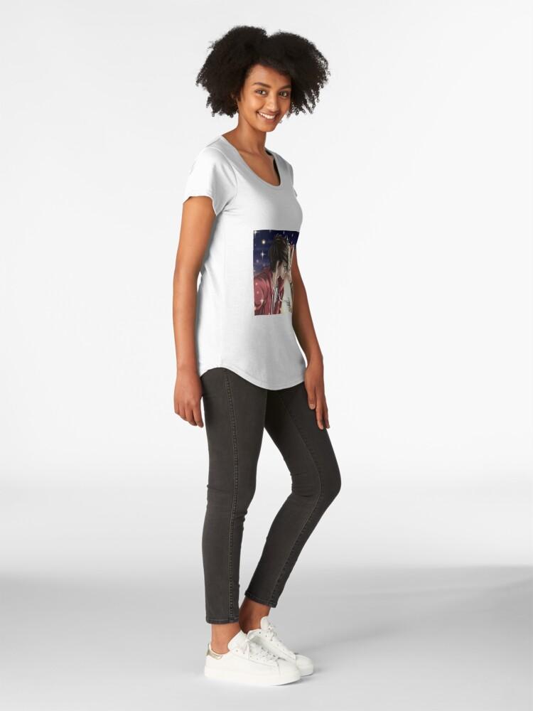 Vista alternativa de Camiseta premium de cuello ancho Quédate conmigo