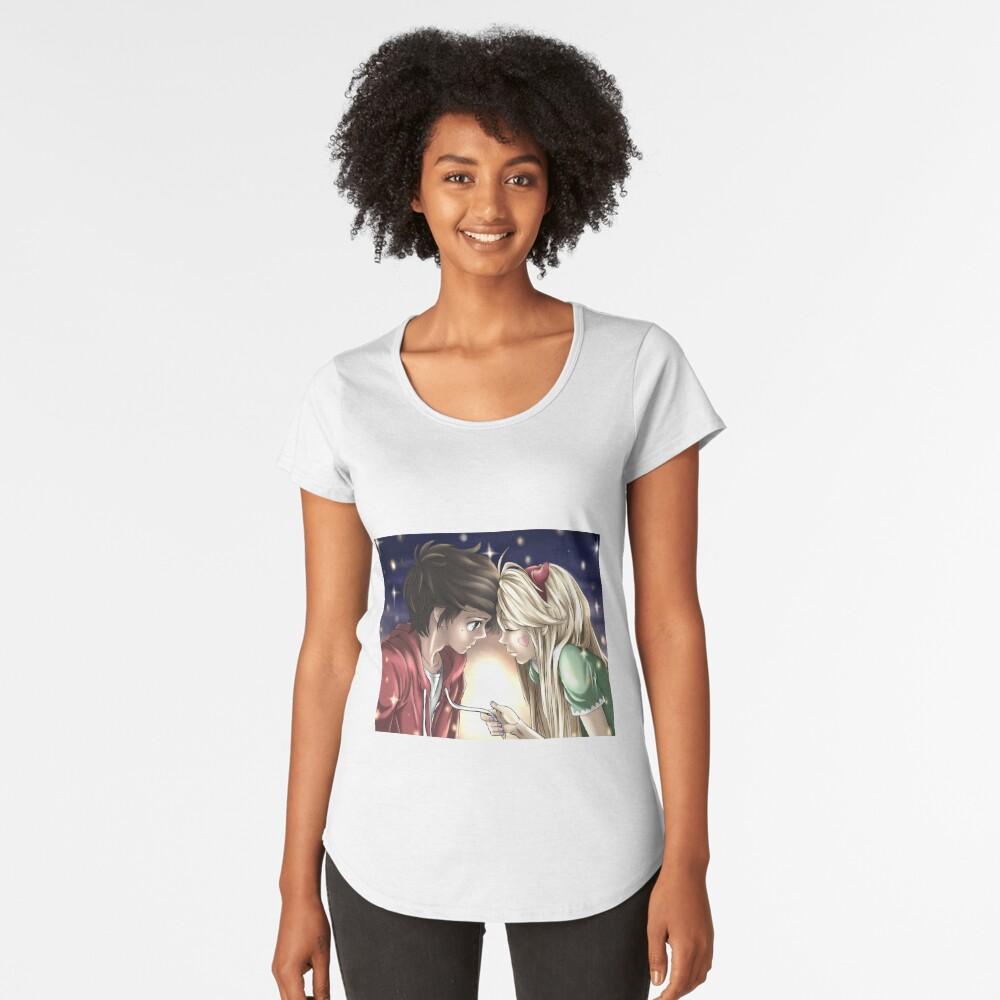 Quédate conmigo Camiseta premium de cuello ancho