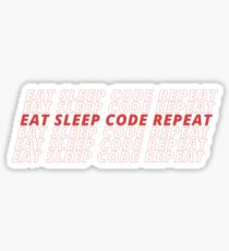 EAT SLEEP CODE REPEAT Sticker