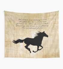 The Black Stallion Wall Tapestry
