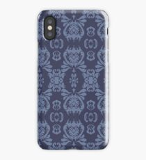 Mormor Damask - Navy iPhone Case