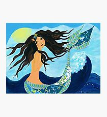 Mermaid, Summer, Waves and Sea Photographic Print