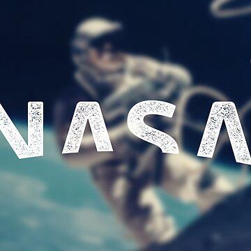 NASA New Logo 2018 (efecto vintage) de Doge21