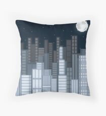 Goodnight Manhattan  Throw Pillow