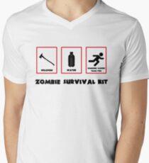 Zombie survival kit Men's V-Neck T-Shirt