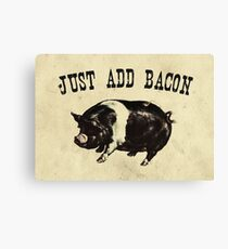 Just Add Bacon Pig Canvas Print