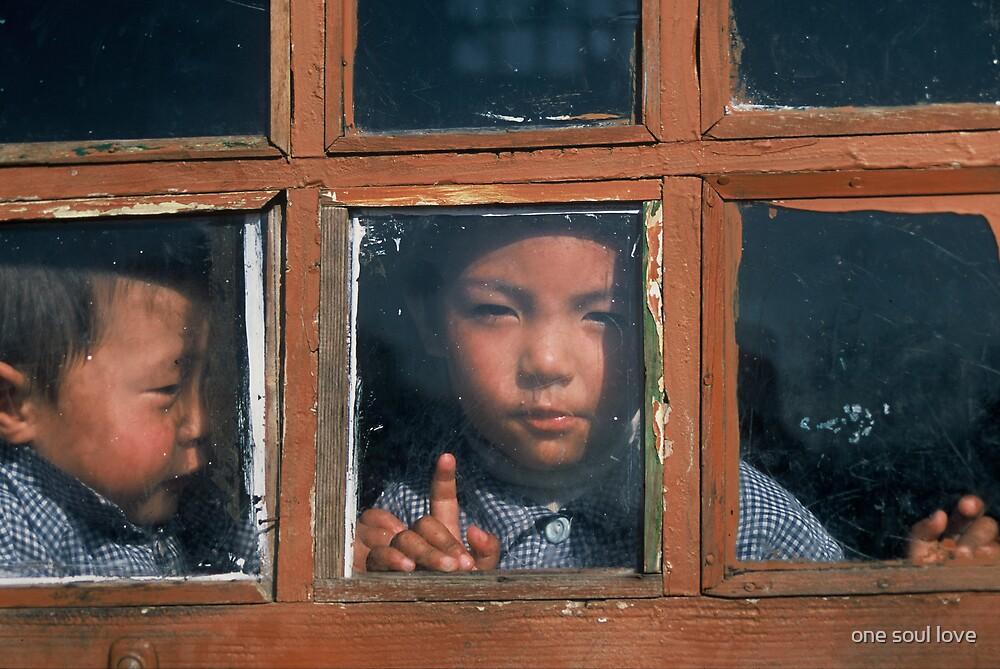children in tibet by chrisdade