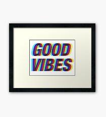 Good Vibes Techicolor Framed Print
