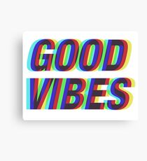 Good Vibes Techicolor Canvas Print