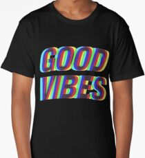 Good Vibes Techicolor Long T-Shirt