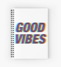 Good Vibes Techicolor Spiral Notebook