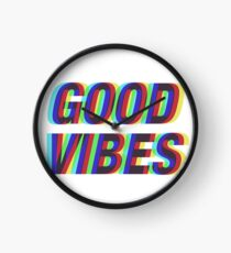 Good Vibes Techicolor Clock