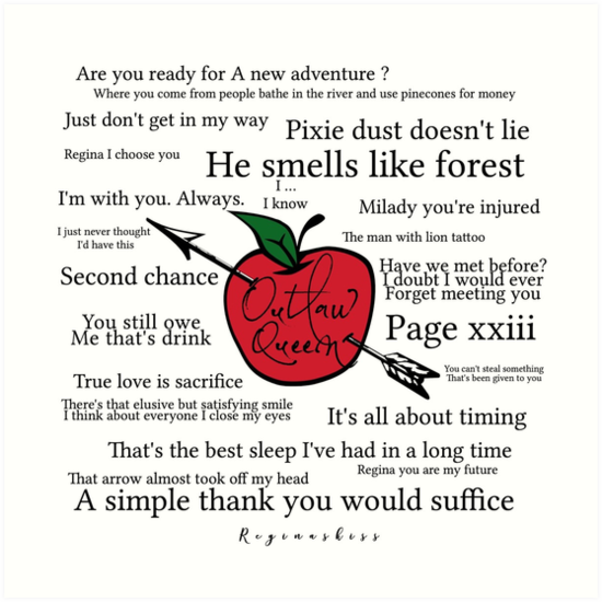 Outlaw Queen Quotes Art Prints By Sophie Tucker Redbubble