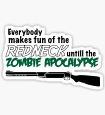 """Redneck Zombi"" All Out Battle T Shirt Sticker"