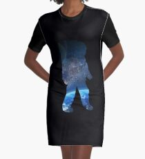Space Man  - Astronaut Abstract Graphic T-Shirt Dress
