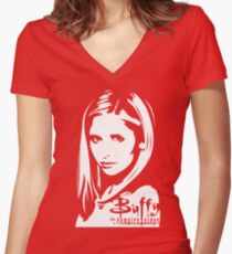 The Real Slayer Women's Fitted V-Neck T-Shirt