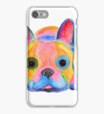 Nosey French Bulldog ' AM I FRENCH ? ' by Shirley MacArthur iPhone Case/Skin