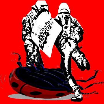 Riot Cops vs. LadyBug | Riot Shirt Police Brutality by iNukeDesign