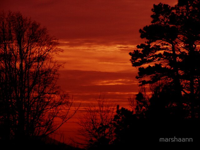 skys of red by marshaann