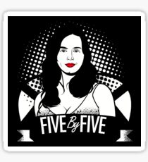 five by five baby Sticker