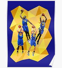 Curry KD Klay Draymond - Warriors - Super Team - Low Poly Poster