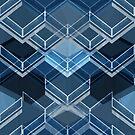 Geometric blue pattern by Olga Altunina