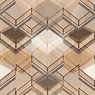 Geometric brown pattern by Olga Altunina