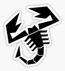 Abarth scorpion (black) Sticker