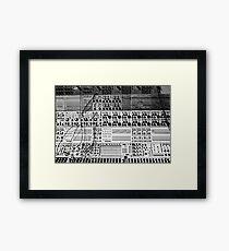 Synthesizer Framed Print