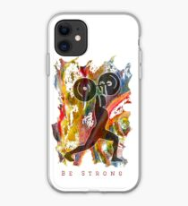 BE STRONG - POWER WEIGHTLIFTER iPhone Case