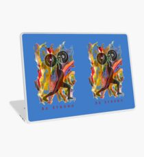 BE STRONG - POWER WEIGHTLIFTER Laptop Skin