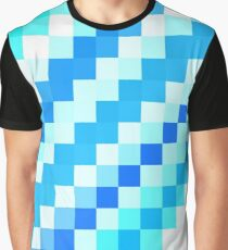 Blue pixel wave Graphic T-Shirt