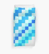 Blue pixel wave Duvet Cover