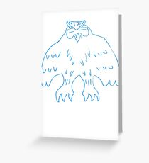 Sleeping Giant Owl Greeting Card