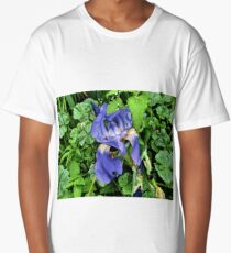 Blue Bearded Iris Long T-Shirt