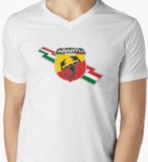 Abarth thunderbolt Men's V-Neck T-Shirt