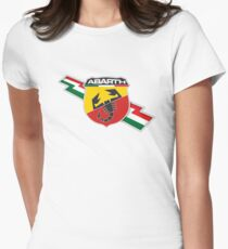 Abarth thunderbolt Women's Fitted T-Shirt