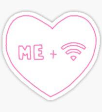 me + wifi heart Sticker