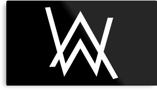 Alan walker white logo merchandise metal print by newbie82 redbubble - Alan walker logo galaxy ...