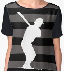 Baseball Batter Women's Chiffon Top