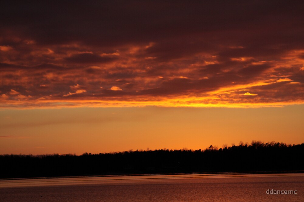 Another Lake Sunset by ddancernc