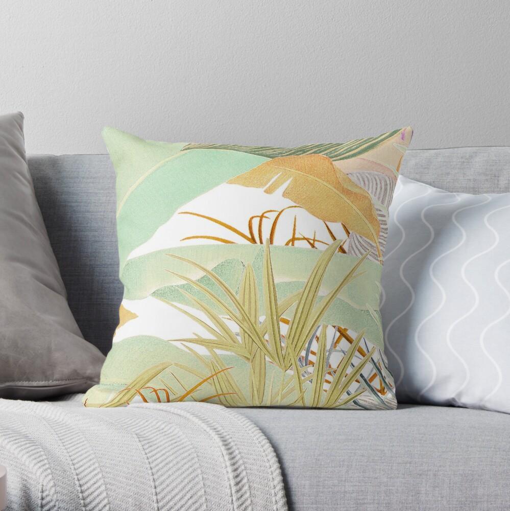 Native Jungle Throw Pillow