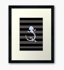 Amphibian skeleton Framed Print