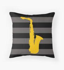 Saxophon Throw Pillow