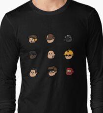 Team Fortress 2 Merc Heads (RED) Long Sleeve T-Shirt