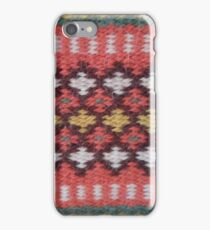Old Norwegian knit pattern close-up texture photo iPhone Case/Skin