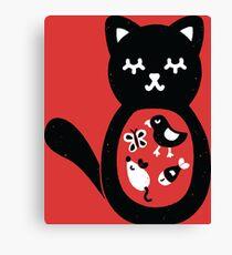 Treats inside the cat Canvas Print