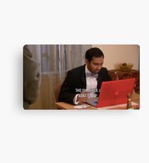 Tom Haverford- This is America Canvas Print