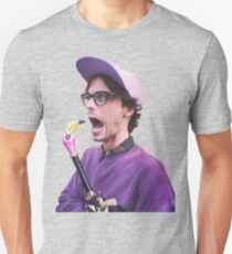 Matthew Gray Gubler with Flamingo Umbrella Unisex T-Shirt