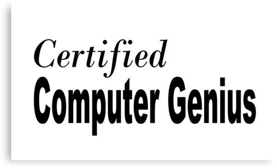 Computer Genius by greatshirts